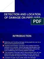 Detection and Location of Damage on Pipelines
