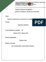 Instrumentos en Funcion de La Variable de Procesos