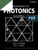 Fundamentals of Photonics 2nd Ed - B. Saleh, M. Teich (Wiley, 2007) WW