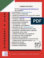 Cartel General de actividades J.A. Labordeta