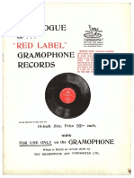 Catalog of Red Label Gramophone Records