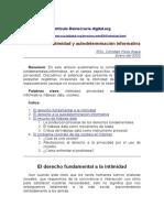 Derecho a La Intimidad y Autodertiminación Informativa. Democracia Digital. Org