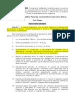 Reglamento de La Ley de Obras Públicas y Servicios Relacionados Con Las Mismas