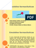 EMULSOES FARMACEUTICAS 2014