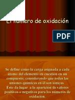 El Numero de Oxidacion