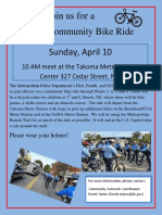 MPD Community Bike Ride 4-10-16