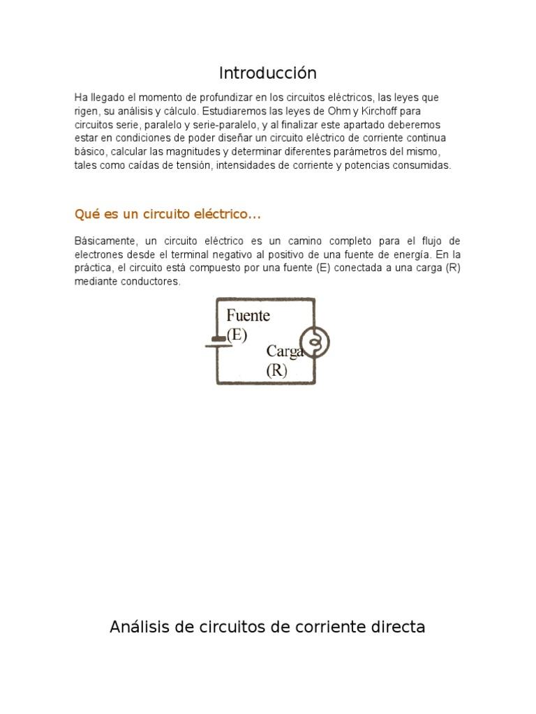 Circuito Electrico Basico : Circuitos elÉctricos ii pdf