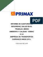 Informe de Auditoría SSMAC - CARRASCO