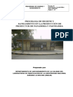 Programa de Higiene Laboratorio Panificacion