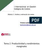 Tema 2 Productividad y Rendimientos Marginales
