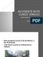 Accidente Ruta Cunco Temuco
