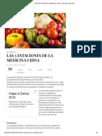 Las 5 Estaciones de La Medicina China - Barcelona Alternativa