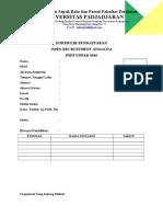 Formulir Pendaftaran PSFP 2016