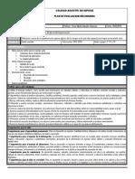 Plan y Programa de Evaluacion Bloque v Tutoria II