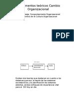Fundamentos Teóricos Cambio Organizacional