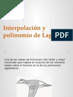 Interpolacion de Lagrange