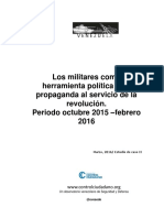 Control Ciudadano- Militares Como Herramienta Politica