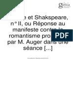 Racine Et Shakespeare II, De Sthendal. 1825.