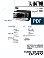 Manual Amplificador Sony TA-H4700