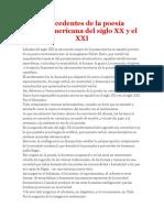 Antecedentes de La Poesía Centroamericana Del Siglo XX y El XXI
