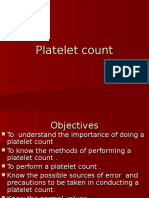 Platelet Counting fordirect indirect method