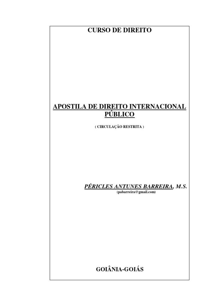 Curso de direito internacional publico