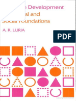 A. R. Luria-Cognitive Development, Its Cultural and Social Foundations