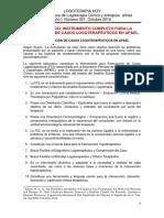 Formulación de Casos Logoterapéutica. Apael 2012