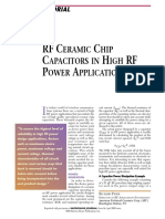 RF Ceramic Chip Capacitors in High RF Power Applications