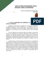 Propuesta Para El Reconocimiento de La Recorrección Como Un Derecho - CED 2015