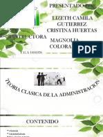 Capitulo Cuatro Teoria Clasica de La Administración