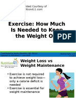 G-1263 Exercise, How Much is Needed to Keep the Weight Off