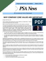 PSA Newsletter March 2016