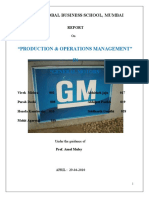 Production & Operation Management- General Motor Halol..(Chevrolet)