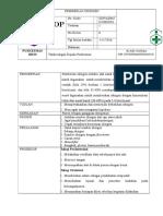 247891507 Sop Pemasangan Oksigen Melalui Nasal Kanul Dan Masker Docx
