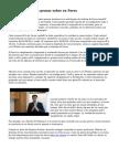 Información para pensar sobre en Forex
