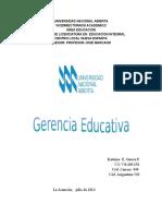 UNIVERSIDAD NACIONAL ABIERTA Gerencia Educativo Nuevo Katy