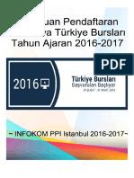 Panduan Pendaftaran Beasiswa Turkiye Burslari Tahun Ajaran 2016-2017