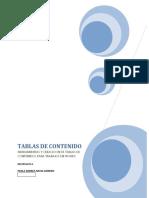 Tabla de Contenido -Info. Paola