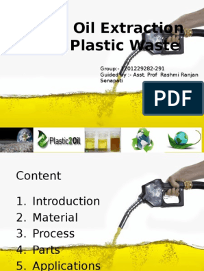 Crude Oil Extraction From Waste Plastic | Plastic | Pyrolysis