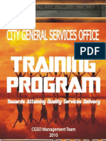 CGSO Training Program