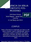2012 Arelevnciadabblianocontextops Moderno 120327121037 Phpapp01