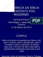 2012 Arelevnciadabblianocontextops Moderno 120327121037 Phpapp01