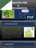 arquitectura bioclimatica - analisis de casos