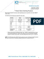 Check Valve Cracking Pressure TB