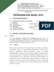 Programacion Anual Quimica