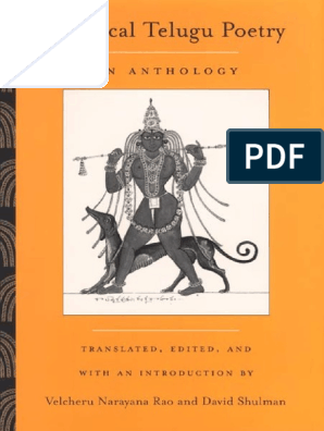 Classical Telugu Poetry - An Anthology | Metre (Poetry) | Poetry