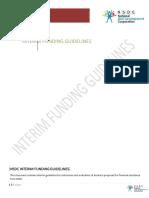 Interim Funding Guidelines