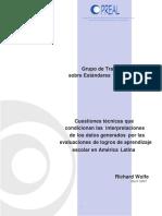 Grupo de Trabajo sobre Estándares y EvaluaciónCuestiones_tecnicas