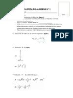 Practica de Álgebra n